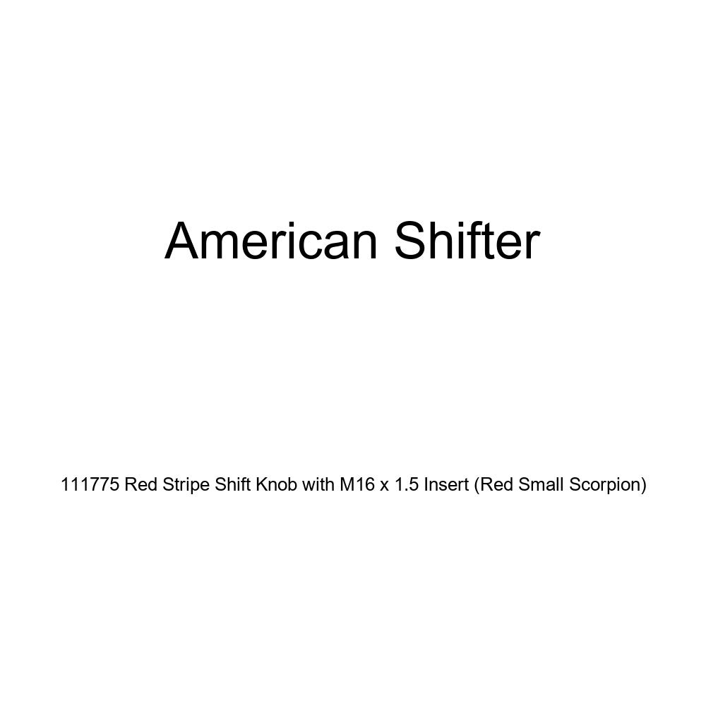 American Shifter 111775 Red Stripe Shift Knob with M16 x 1.5 Insert Red Small Scorpion