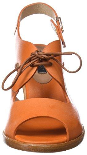 Neosens S980 Restored Skin Carrot/Negreda, Sandales Bout Ouvert Femme Orange (Carrot)