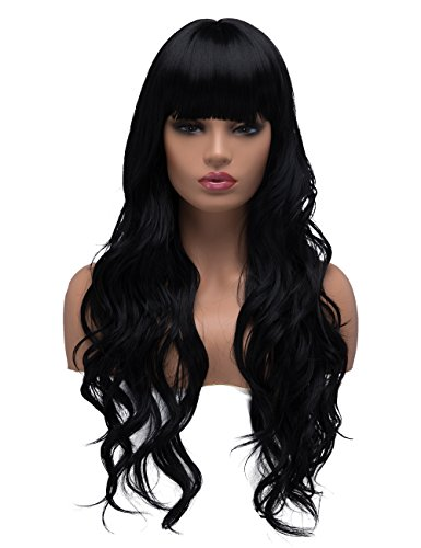 BESTUNG Long Curly Wavy Wigs for Women Ladies Synthetic, used for sale  Delivered anywhere in USA