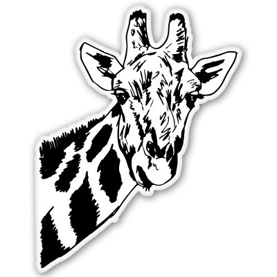 Giraffe Vinyl Sticker - SELECT SIZE ()