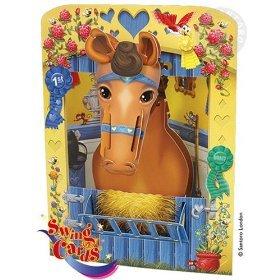 (Santoro Graphics Swing Card / Greeting Card - Horse - SC84)