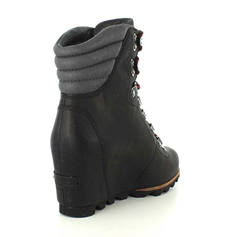 Conquest Sorel Black Mid Women's Dark Boot Calf Grey Wedge 7wxP45wq