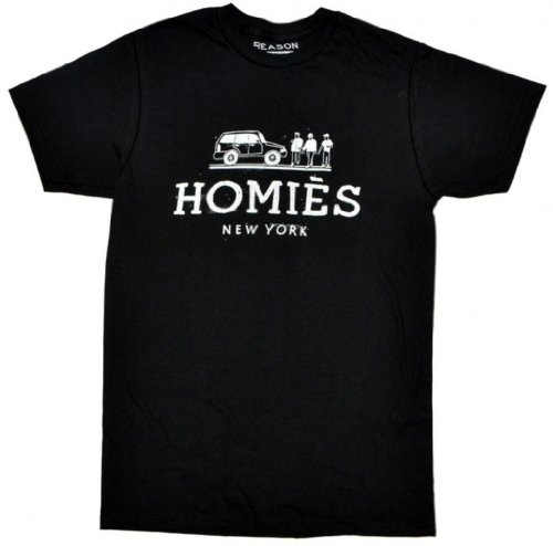 Reason Clothing Men's Homies Tee Black X-Large