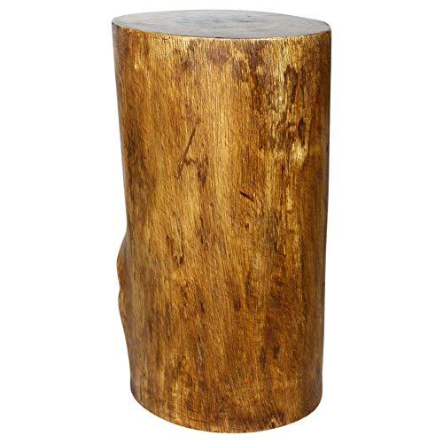 Haussmann Eco Wood Stump Stool 11-14 inch Dia x 22 inch High Walnut ()