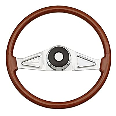 Woody's WP-SWF8901.2 Rosewood Chrome Truck Steering Wheel (Beautiful African Hardwood): Automotive