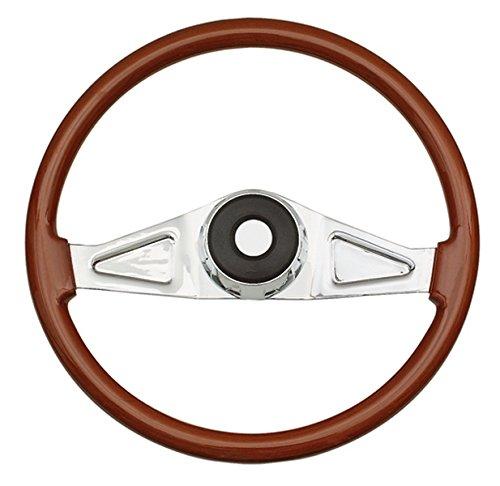 Beautiful African Hardwood Woodys WP-SWKW9701.2 Rosewood Chrome Truck Steering Wheel