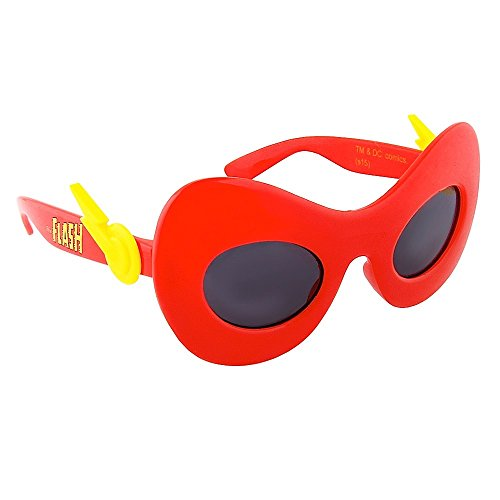 Sun-Staches DC Comics Flash Sunglasses, Party Favors, UV400 by Sun-Staches