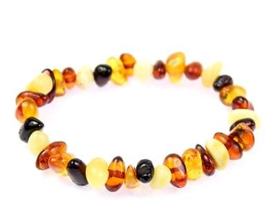 100% Genuine MIX Amber Anklet / Bracelet ELASTIC from UK Dristriibutor 0zsLjj