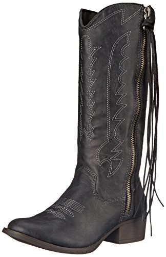 Madden Girl Women's Durant Western Boot Black Paris pmfuN