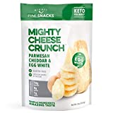 Parmesan Cheddar Egg White Cheese Crisps - Low Carb, Gluten Free, High Protein Healthy Cheese and Egg Snack – Savory, Keto & Diet Friendly Cheese Crunch with Natural Ingredients Pack of 4, 2oz Bags
