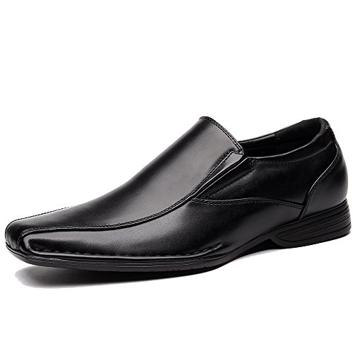 - OUOUVALLEY Classic Formal Oxfords Slip On Leather Lining Modern Loafer Shoes OUOU-004 (14 D(M) US, Black)