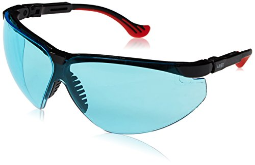 Uvex by Honeywell Genesis XC Safety Glasses, Black Frame with SCT-Blue Lens & Uvextreme Anti-Fog Coating (S3312X)
