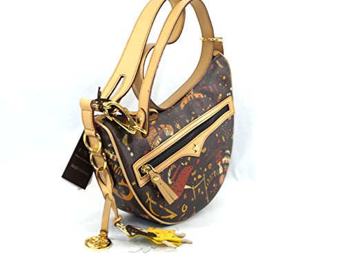Borsa a Tracolla small Piero Guidi Magic Circus 25x17x8cm - marrone