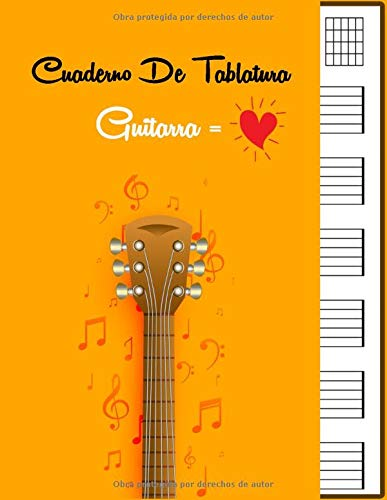 Cuaderno De Tablatura Guitarra: Guitarra Seis Cuerdas | 7 tabs por ...