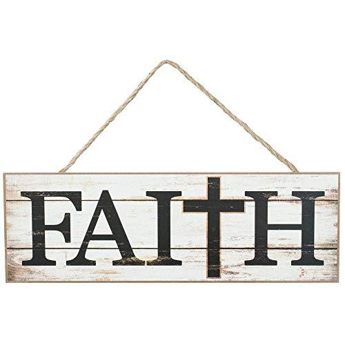 GiftWrap Etc. Wooden Slat Faith Cross Sign - 15