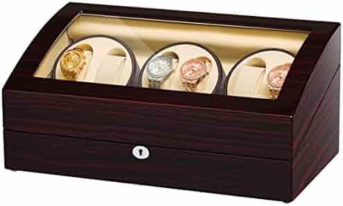 JQUEEN Six Watch Winders 7 Storages with Three Quiet Mabuchi Motors