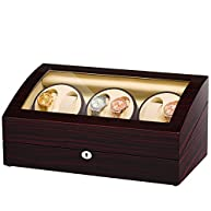 JQUEEN Six Watch Winders 7 Storages with Three Quiet Mabuchi Motors
