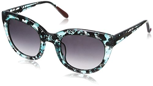 Betsey Johnson Women's Makayla Cateye, Aqua, 51 mm