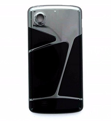 Back Cover Battery Door for LG Chocolate VX8575 - Black/Silver - Lg Chocolate Phone Covers