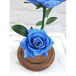 Longay Romantic Glass Rose Wedding Decoration Home Furnishing Holiday Gifts (Blue) 3