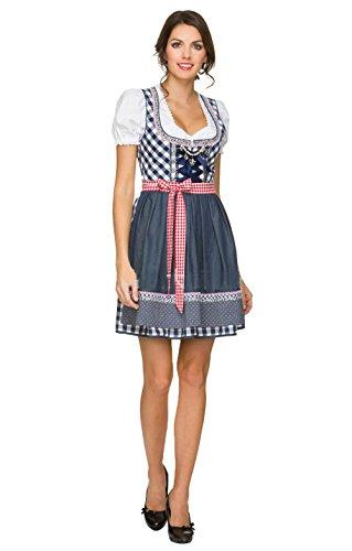Sexy German Girl Costumes (Oktoberfest Costume Women - 5 Size S-2XL Women Sexy German Oktoberfest Bavarian Maid Dress Beer Girl Costume (M, Blue))