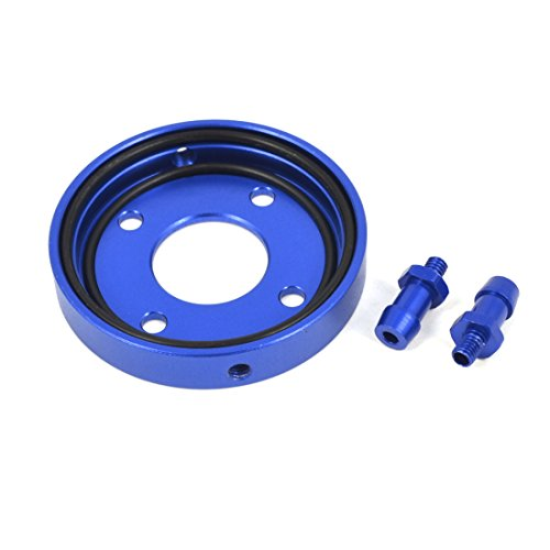 Racing Cooling Head - Aexit 34mm x Electrical equipment 41mm x 7mm Blue Aluminum Water Cooling Head Cover for RC Racing Boat Ship GP15-18 Engine