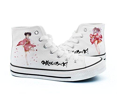 Kabaneri De La Fortaleza De Hierro Ikoma Mumei Cosplay Zapatos Zapatos De Lona Sneakers Black / White White 4