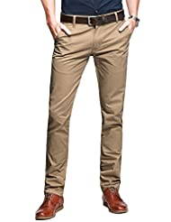 Match Mens Flat-Front Tapered Leg Casual Pant #8025