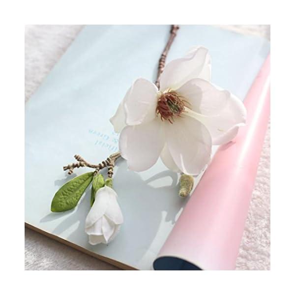 YJYdada-Artificial-Fake-Flowers-Leaf-Magnolia-Floral-Wedding-Bouquet-Party-Home-Decor
