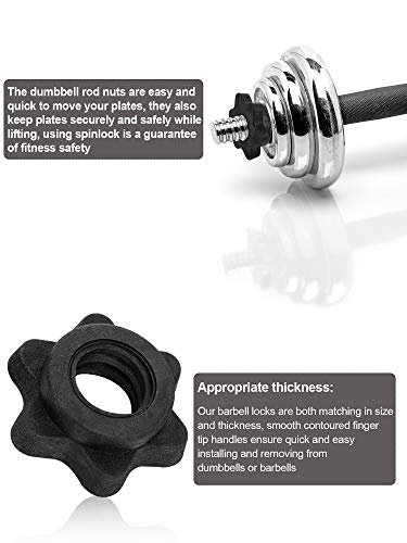 6-Pieces-Barbell-Accessories-Set-2-Pieces-Spring-Collar-Clips-2-Pieces-Dumbbell-Screw-Clamps-Dumbbell-Bar-Spinlock-and-2-Pieces-Spinlock-Collars-for-1-Inch-Standard-Barbells-Bars-Sports