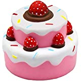 GYOBY Jumbo squishies Super Soft Squishy Toys Slow Rising Strawberry Cake Anti Stress Fidget - Stress Reliever Squeeze - Soft and Cute Squishies Toy - Squishy Kawaii - for Kids and Adults