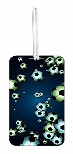 Soccer Balls Hard Plastic Luggage Tag with Personalized Back by Jacks Outlet (Image #2)