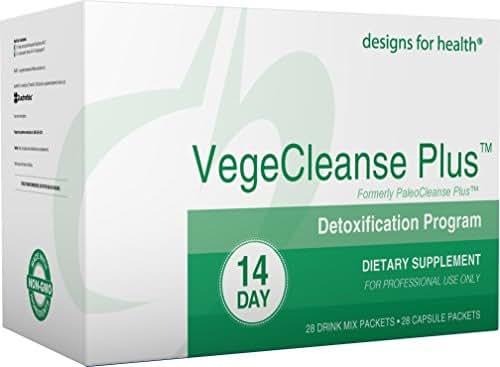 Designs for Health Vegetarian Cleanse Program - VegeCleanse Plus 14 Day Detox Program (28 Protein Powder + 28 Vitamin Packs)