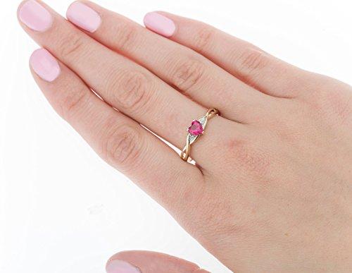 Bague - B32GR0843 - Femme - Or jaune (9 carats) 1.9 Gr - Rubis