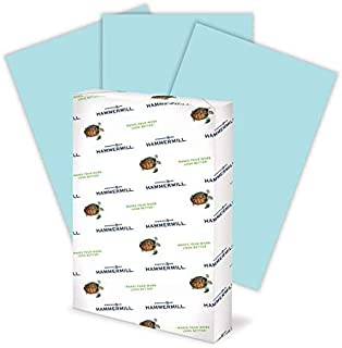 product image for Hammermill Colored Paper, 20 lb Blue Printer Paper, 11 x 17-1 Ream (500 Sheets) - Made in the USA, Pastel Paper