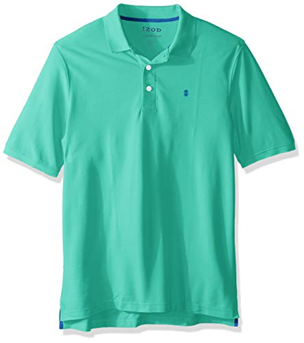 IZOD Men's Big and Tall Advantage Performance Short Sleeve Solid Polo, Florida Keys, Large
