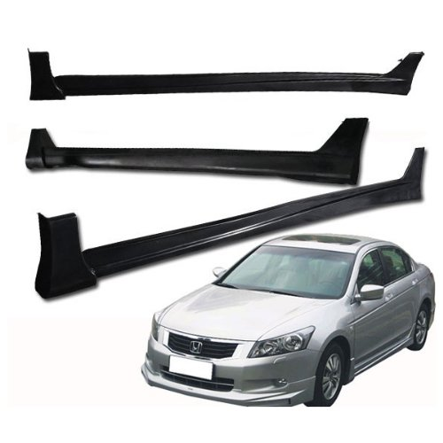 - 08-10 Honda Accord 4dr Sedan MUG Style Add-On Poly-Urethane Side Skirt Bodykit