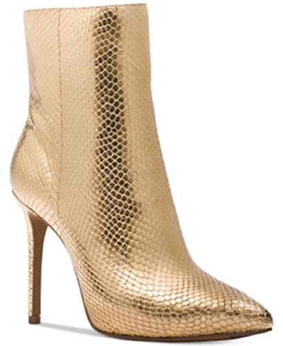 Michael Kors Leona Metallic Booties Gold Size 9.5M