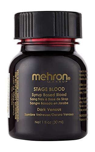 No Mouth Halloween Makeup (Mehron Makeup Stage Blood (1 Ounce) (Dark)