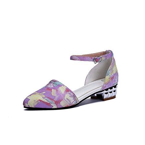 5 Violet Femme ASL05354 36 Compensées Sandales EU Violet BalaMasa a1qxwgFq