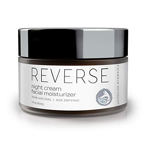 Foxbrim Naturals Night Cream Moisturizer - NEW FORMULA - Anti Aging - Lifting and Smoothing Face Cream - With Natural & Organic Ingredients - CoQ10, Panthenol, Gotu Kola, Hyaluronic Acid - 1oz