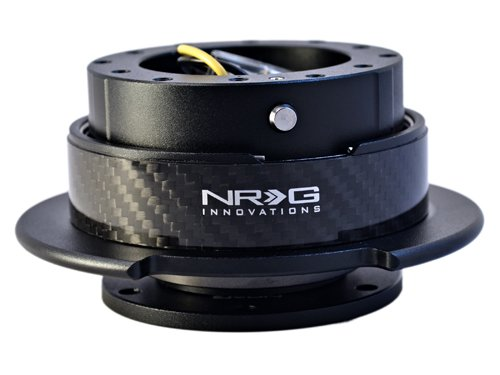 NRG Innovations SRK-250CF Quick Release Kit (Black/CF Ring)