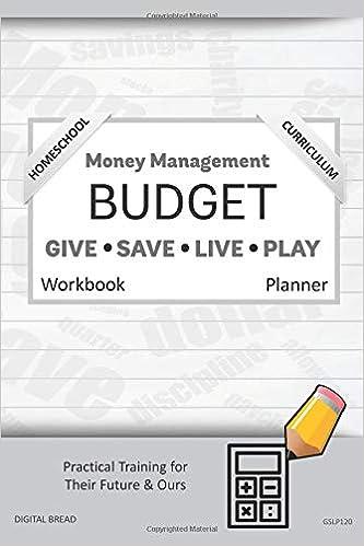 money management homeschool curriculum budget workbook planner a 26