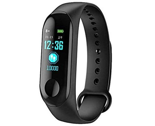 Goita M3 Bluetooth Fitness Smart Health Band/Smart Fitness Band Compatible for All Device (Black)