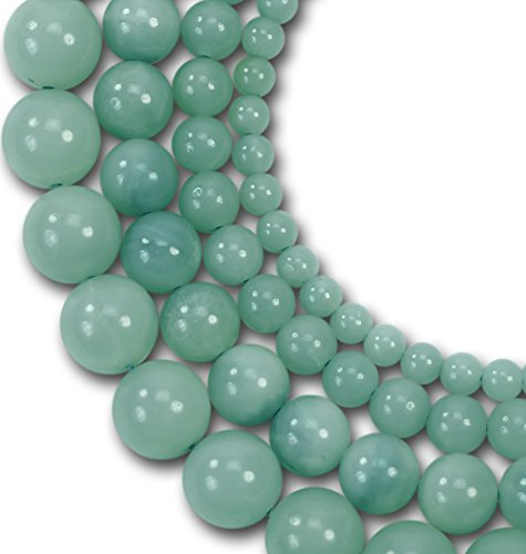 azonite Gemstone Round Loose Beads For Jewelry Making Findings /Accessories 1 Strand 15.5 inches - 8mm (Lk Jewelry)