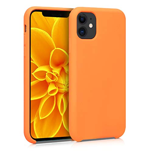 kwmobile TPU Silicone Case Compatible with Apple iPhone 11 - Soft Flexible Rubber Protective Cover - Cosmic Orange