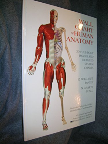 Wallchart of Human Anatomy: 3 D Full-Body Images, Detailed System Charts