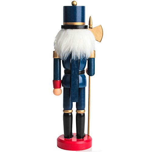 Jusdreen 10.3'' Christmas Nutcracker Ornaments Christmas Day Decoration Xmas Puppet Soldiers - Wooden by Jusdreen (Image #1)