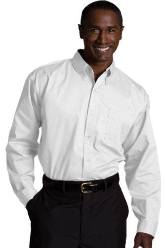 Ed Garments Men's Wrinkle Resistant Twill Shirt, WHITE, XXXX-Large ()