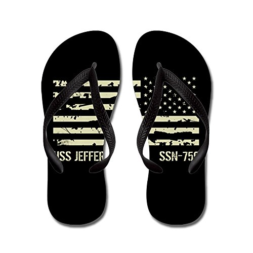 CafePress USS Jefferson City - Flip Flops, Funny Thong Sandals, Beach Sandals Black